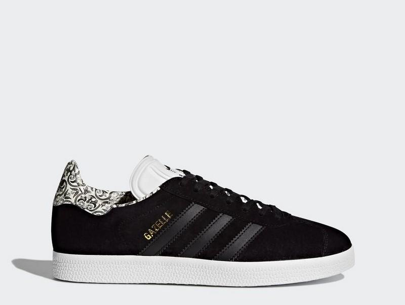 Detalles de Sneakers BY9366 Zapatillas Adidas Gazelle Negro y Blanco Mujer