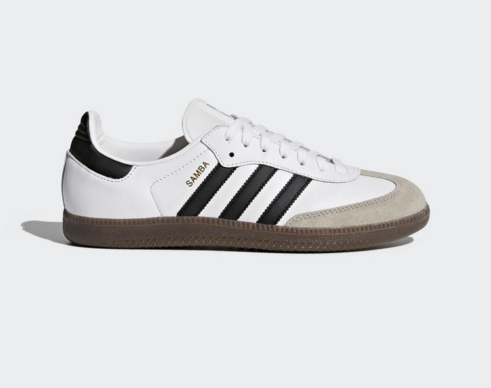 2faecd43a363 Sneakers BZ0057 Zapatillas adidas Samba Blanco y Negro Hombre