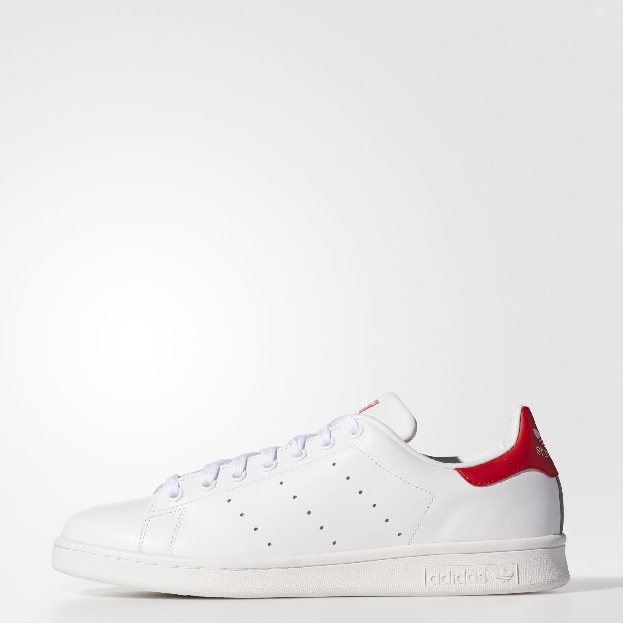8c50b474a7 Sneakers M20326 Zapatillas Adidas Stan Smith Blanco y Rojo Hombre