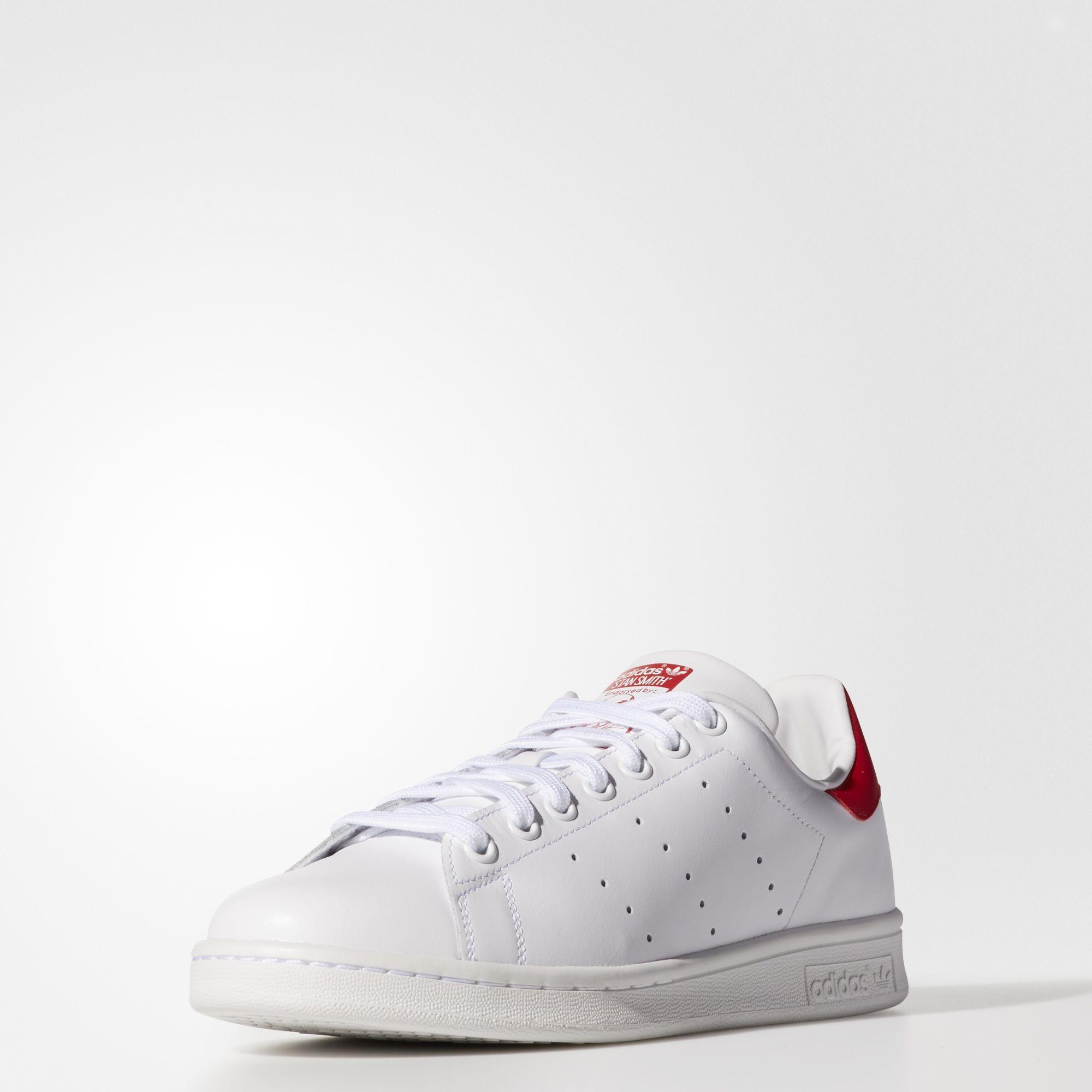 f71e364fbbd Sneakers M20326 Zapatillas Adidas Stan Smith Blanco y Rojo Hombre
